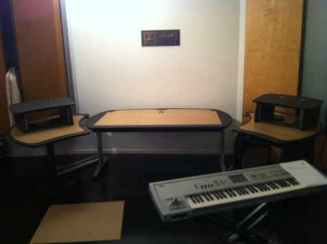 recording studio workstation desk plans